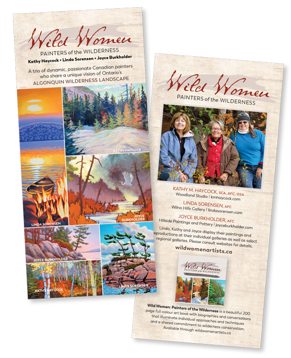 Wild Women Artists rack card